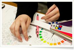 色彩の授業の様子